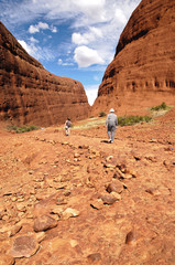 Hiking in Kata Tjuta