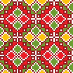 Ethnic Ukraine pattern. Vector art-illustration.