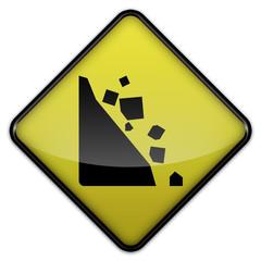"Warning Sign ""Falling Rocks"""