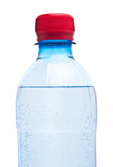 Bottles of water isolated on the white