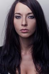 portrait attractive brunette girl
