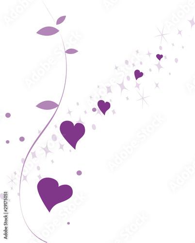 Lila Herzen Und Sterne Valentinstag St. Valentine