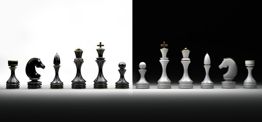 Chess pieces set a complete set of chess pieces