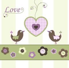 Valentine card, vector