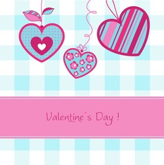 Valentine day card, vector
