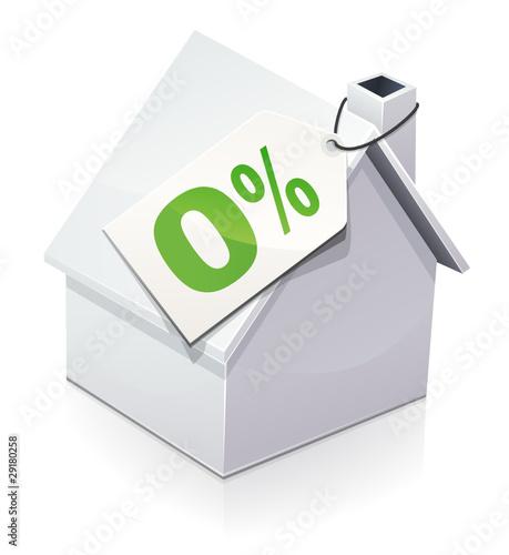 Maison et pr t taux z ro reflet fichier vectoriel for Maison et reflet lyon