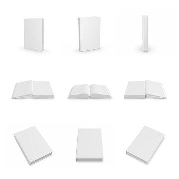 Buch, Magazin, Broschüre, Cover auf weißem Hintergrund