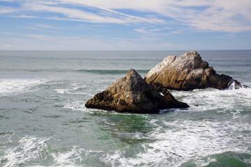 Two outcrops Ocean Shore Cliff