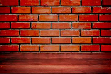 Vintage brown textured brick wall