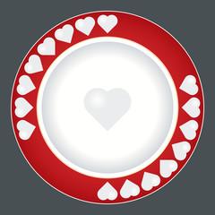 valentine's day dish