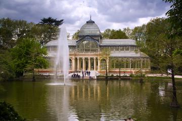 Cristal palace in the Retiro Park, Madrid