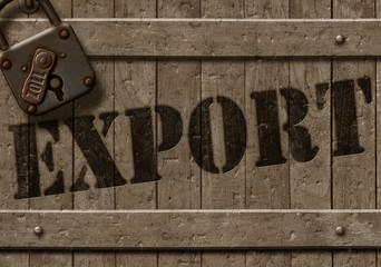 Exportkiste mit Zollschloss