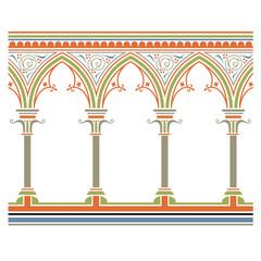 Fototapeta Arcade seamless pattern – in medieval style