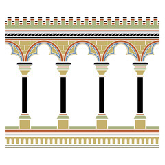 Fototapeta Arcade seamless pattern - in medieval style