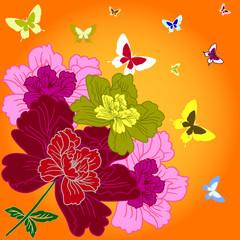 fantasy hand drawn flowers