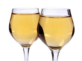 Glasses wine on wedding