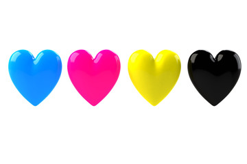 cmyk hearts lovers