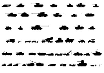 Silhouettes of vehicles 3