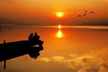 Fotorolgordijn Pier El amor y el sol