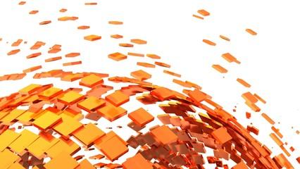 3D Background - Orange Cyberspace 01