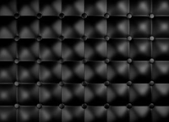 Papiers peints Cuir Black leather upholstery pattern