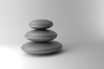 Fototapete - Black and white stones