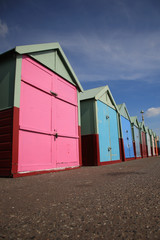 Row of beach huts Brighton