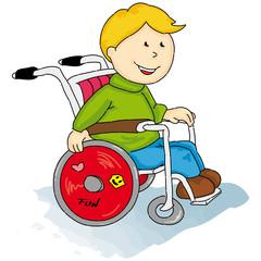 Handicaped little boy