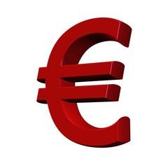 euro 3D rouge