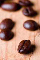fried coffee beans