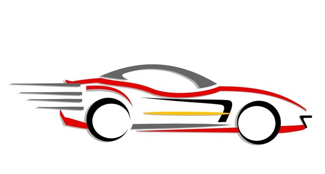 Fast moving car icon