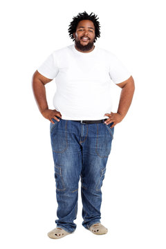 african american man isolated on white