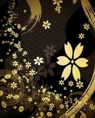 金色の和柄