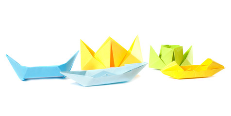 origami figure of boats