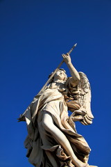 Angel under a blue sky - Copyspace