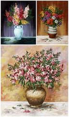 Flowers, freesia, set