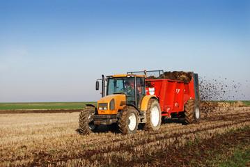 Tracteur benne Fototapete