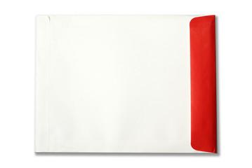 white,red Envelope document on white background