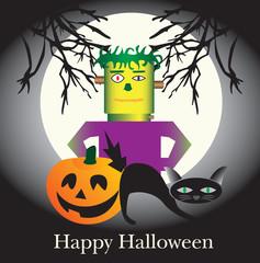 A fun Happy Halloween themed illustration.