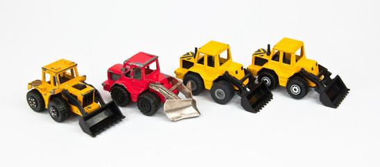 Toy bulldozer.