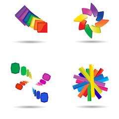 Modern colorful symbols for your design