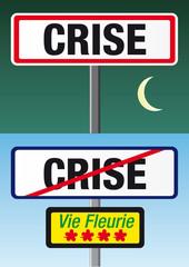 Panneau Crise_vie fleurie