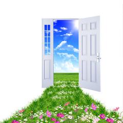 door toward nature