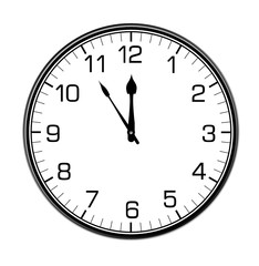 classic wall clock on the white wall