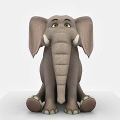 elephant cartoon sit