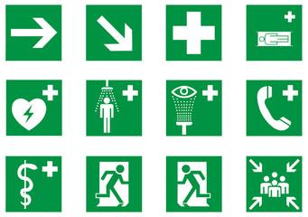 Rettungszeichen Set