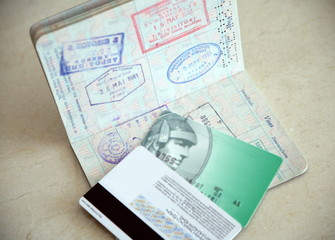 Passport and credit cards