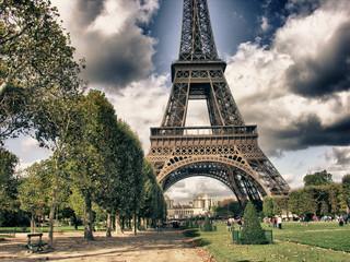 Wall Mural - Eiffel Tower from Park du Champ de Mars, Paris