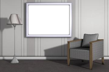 Wohnzimmer mit Bilderrahmen 1