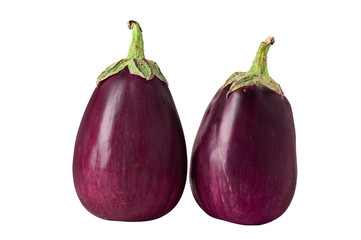 aubergine on a white background